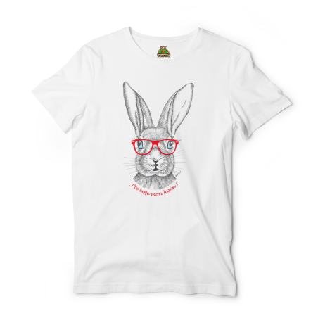 Reptee - T-Shirt bio d\\'artiste - Jte kiffe mon lapin rouge !